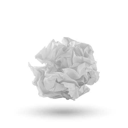 Crumpled paper ball photo