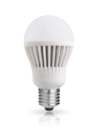 LED bulb isolated on white background photo