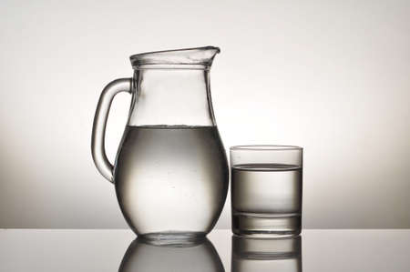 water glass and jug photo