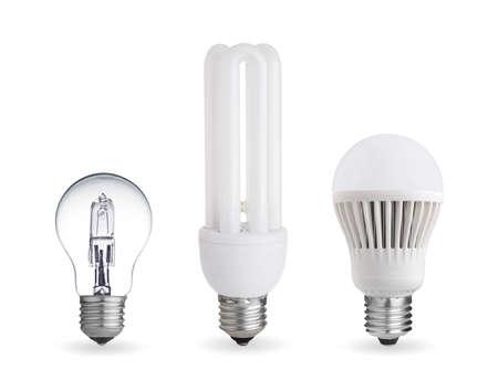 Halogen bulb,fluorescent bulb and LED bulb