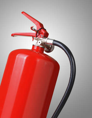 fire extinguisher: fire extinguisher on gray background