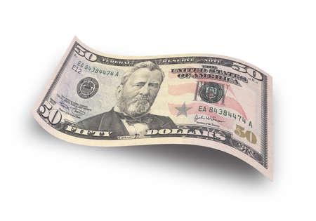 クローズ アップ 50 ドル紙幣 写真素材