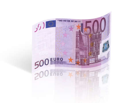five hundred euro banknote  Isolated on white background