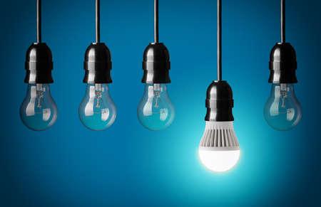 LED 전구 및 간단한 전구 빛나는