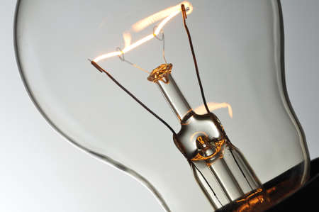Close up glowing light bulb Stock Photo - 24835133