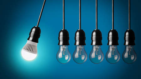conserve: Perpetual motion with LED bulb and simple light bulbs