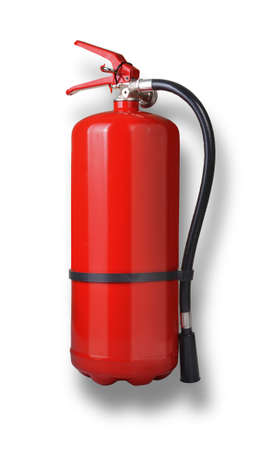 fire shield: fire extinguisher isolated on white background