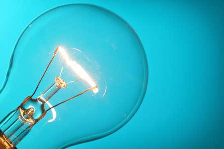 gas lamp: Close up glowing light bulb Stock Photo