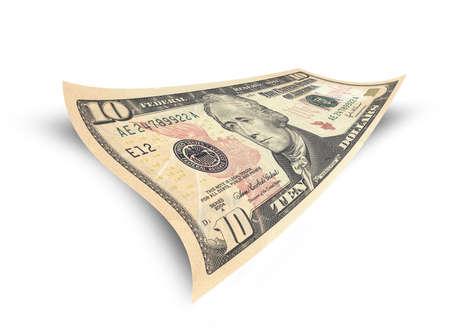 alexander hamilton: dieci banconota del dollaro isolato su sfondo bianco