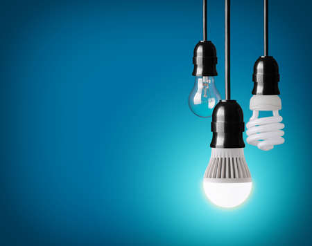 hanging tungsten light bulb, energy saving and LED bulb