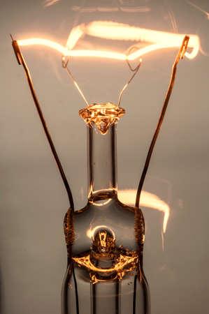 Close up glowing light bulb Archivio Fotografico