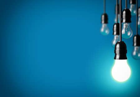 Idea concept on blue background. Banco de Imagens - 28350868