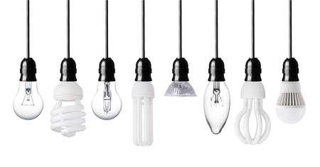 Set di varie lampadine isolato su bianco Archivio Fotografico - 28716759