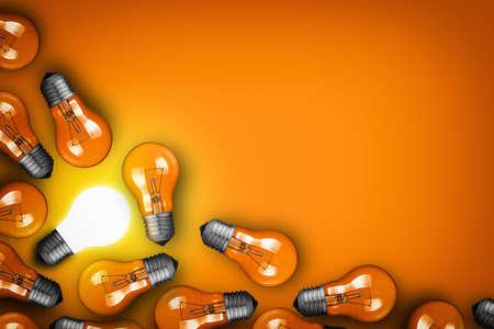 power point: Idea concept with bulbs