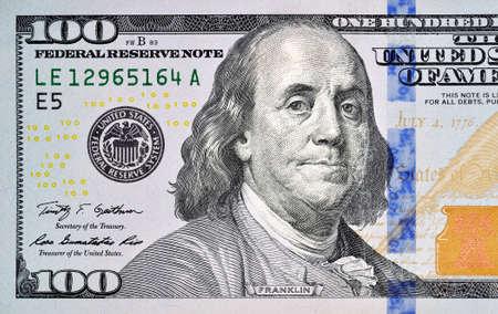 one hundred dollar bill closeup