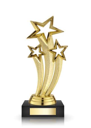 premios: premios estrella aislada sobre fondo blanco Foto de archivo