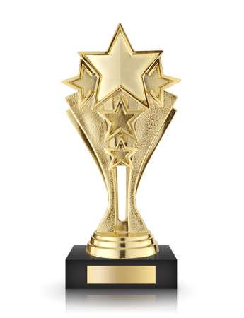 Premios estrella aislada sobre fondo blanco Foto de archivo - 35955563