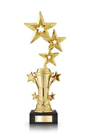 award trophy: stars awards isolated on white background Stock Photo