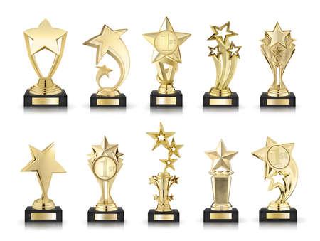 awards: fotos colección de estrellas premios aislados en blanco