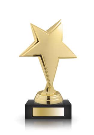estrellas premios aislados sobre fondo blanco