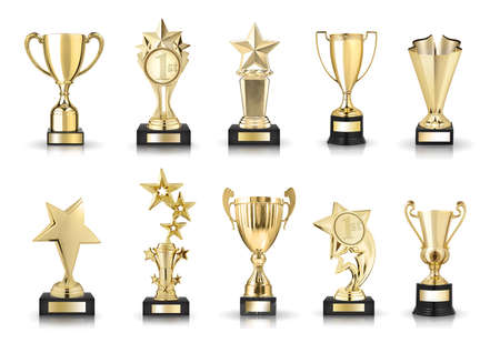 award winning: photos collection of stars awards and trophy cups