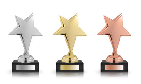 awards: stars awards isolated on white background Stock Photo