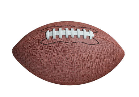 canadian football: American football isolated on white background