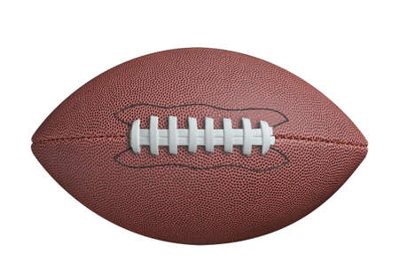 college football: American football isolated on white background