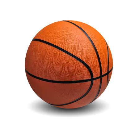 international basketball: Basketball isolated on white background