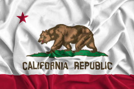 foreign country: Waving California State Flag Stock Photo