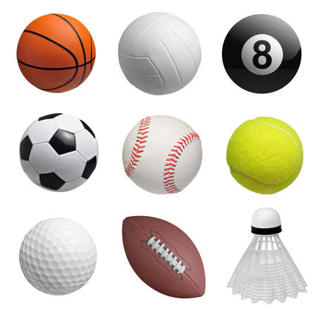 competitive sport: Set of balls