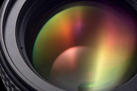 写真レンズのクローズ アップ 写真素材