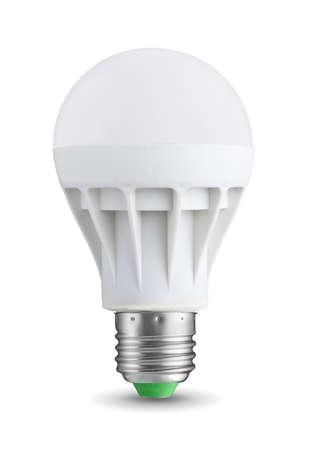 bombillas: Bombilla LED aislado en fondo blanco Foto de archivo