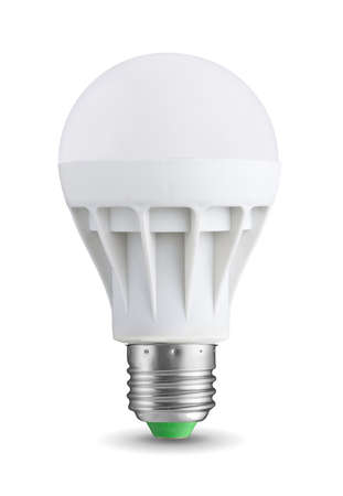 idea light bulb: LED bulb isolated on white background Stock Photo