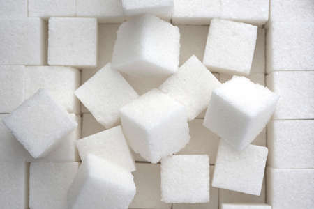 close up of sugar cubes