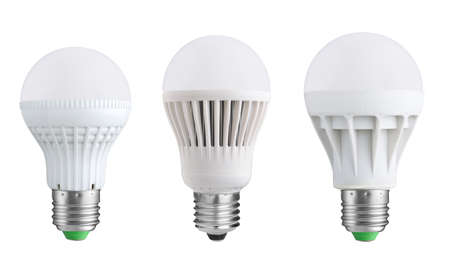 idea light bulb: LED bulbs isolated on white background Stock Photo