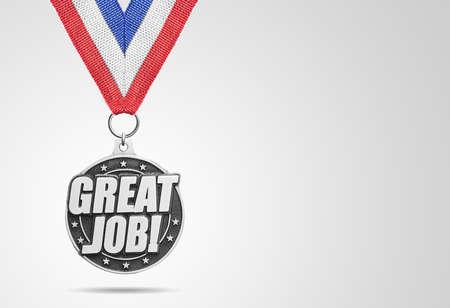 silver medal: Silver medal Great Jobon gray