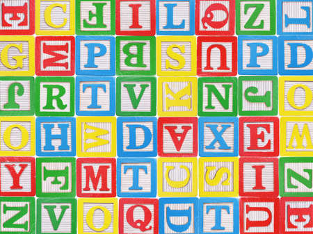 wood blocks: Wooden alphabet blocks background