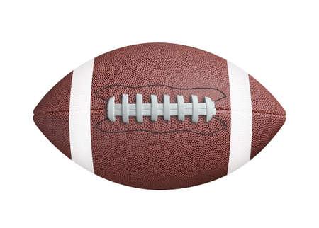 Football americano isolato su sfondo bianco. clipping path Archivio Fotografico - 50653412