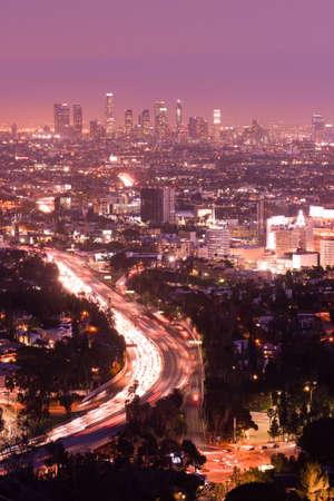 Los Angeles Kalifornien Skyline Standard-Bild