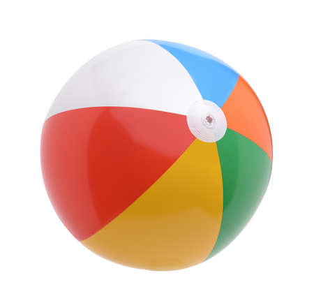 Beach ball isolated on a white background Banco de Imagens