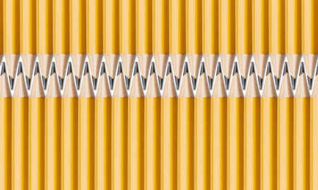 geometrically: pencils Stock Photo