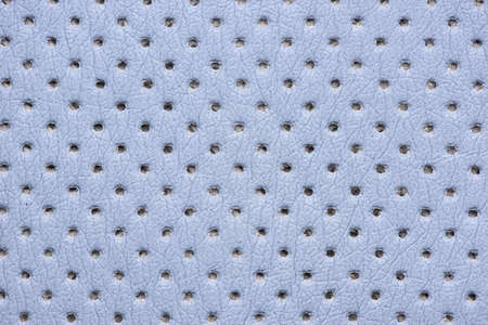 perforated: blue perforated leather texture