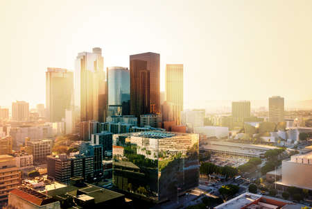 Los Angeles, California, USA downtown cityscape at sunset Stock Photo