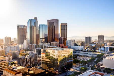 la: Downtown Cityscape Los Angeles, California, USA  Stock Photo
