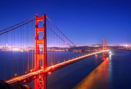 ゴールデン ゲート、夜、サンフランシスコ カリフォルニア州