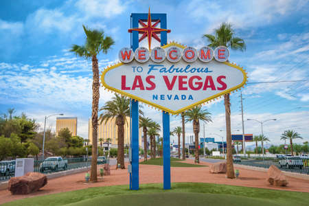 The fabulous Welcome Las Vegas sign Stock Photo