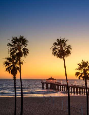 マンハッタン ビーチ ピア アット サンセット, ロサンゼルス, カリフォルニア州