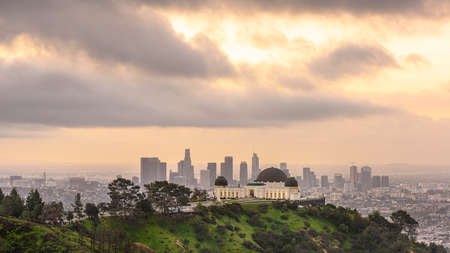 Griffith Observatory and Los Angeles at sunrise