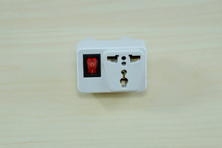 universal: universal receptacle plug Stock Photo